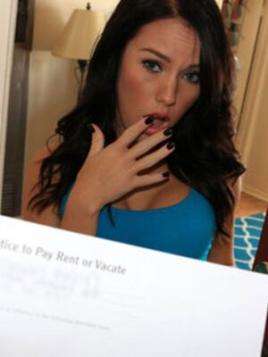 Property Sex - Brunette girl Megan Rain closes a big real estate deal with a cock in her cunt