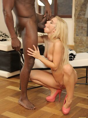 Black 4K - Hot Hungarian blonde Nesty gets her sexy ass covered in jizz after doggy sex
