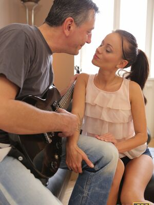 Old 4K - Teen Tina lets her old music teacher wreck her tight pussy with his big cock