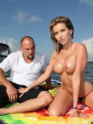 Captain Stabbin - Busty MILF Courtney Cummz goes topless while sucking cock on a boat